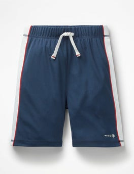 College Blue Active Shorts