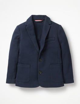 Navy Jersey Blazer