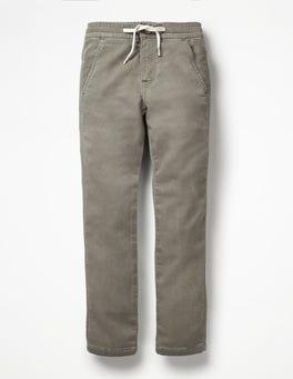 Grey Denim Jersey Skinny Jeans