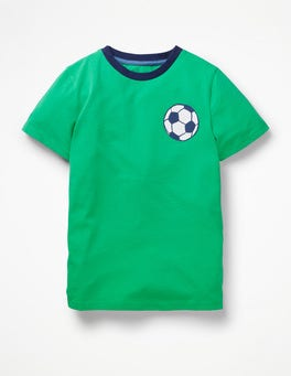 Astro Green Football Printed Sports T-shirt