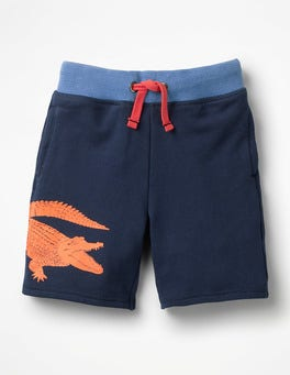 Crocodile College Blue Graphic Sweatshorts
