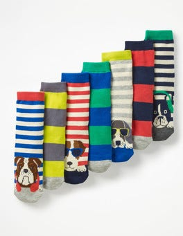 Dogs 7 Pack Sock Box