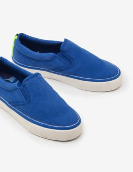 Duke Blue Canvas Slip-ons