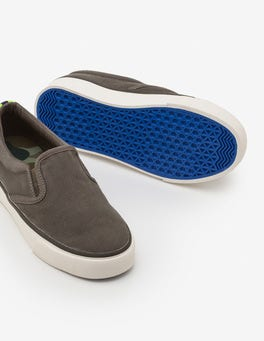 Army Green Canvas Slip-ons