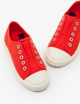 Beam Red Laceless Canvas Pull-ons