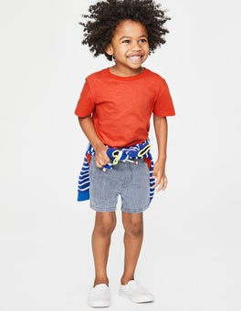 Tropical Orange Slub Washed T-shirt