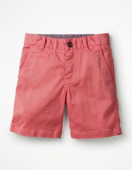 Washed Berry Pink Chino Shorts