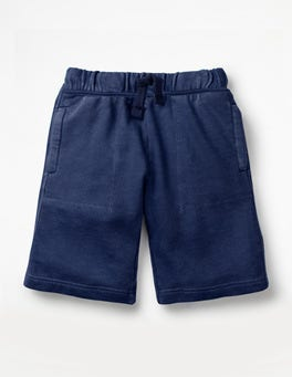 College Blue Garment-dyed Sweatshorts