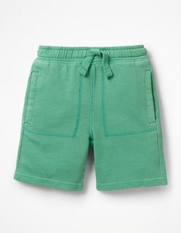 Jungle Green Garment-dyed Sweatshorts