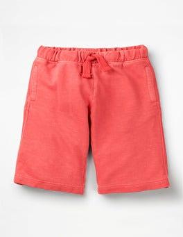 Washed Red Garment-dyed Sweatshorts