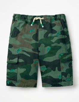 Chameleon Camo Khaki Pull-on Cargo Shorts