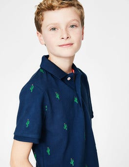 Starboard Blue Cactus Piqué Polo Shirt