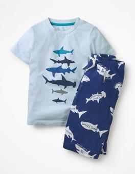 Provence Blue Sharks Graphic Pyjamas