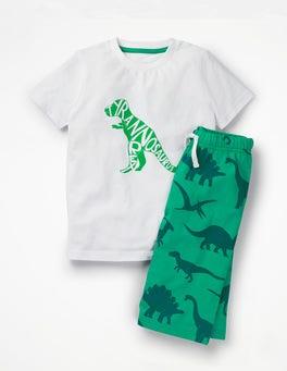 Astro Green Dinosaur Graphic Pyjamas