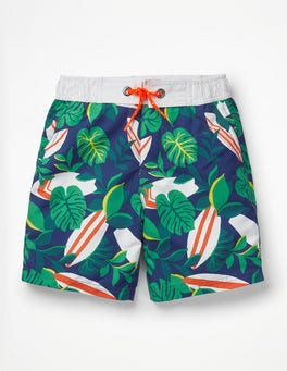 Multi Surf/Palm Leaves Board Shorts