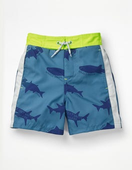 Elizabethan Blue Sharktastic Poolside Shorts