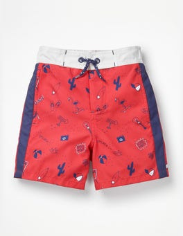 Jam Red Good Vibes Poolside Shorts