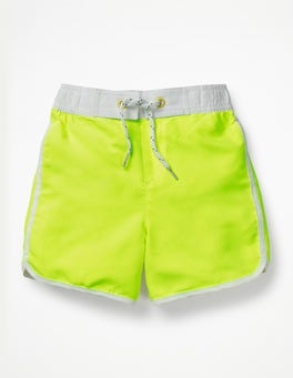Neon Yellow Surf Shorts