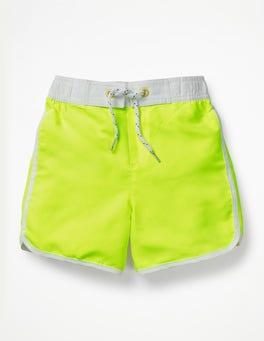 Neon Yellow Surf Shorts