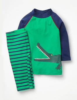 Astro Green Croc Surf Suit