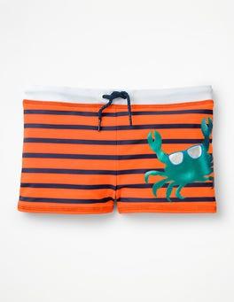 Acid Orange Cool Crab Swim Trunks