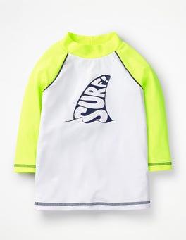 Neon Yellow Surf Logo Rash Guard