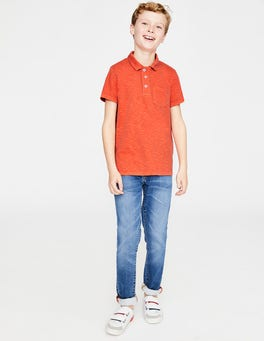 Tropical Orange Garment-dyed Jersey Polo