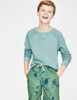 Mineral Blue Garment-dyed Sweatshirt