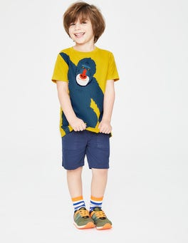 Mimosa Yellow Ape Animal Appliqué T-shirt