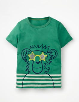 Jungle Green Monkey Cool Animal T-shirt