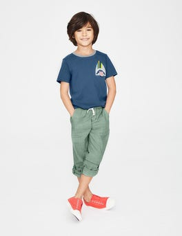 Lagoon Blue Shark Animal Pocket T-shirt
