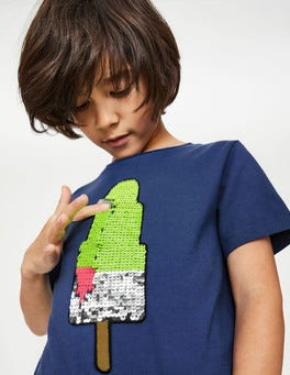 Starboard Blue Ice Lolly Colour Change Sequin T-shirt