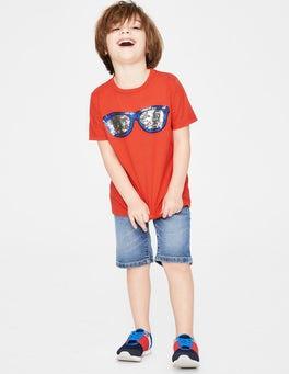 Tropical Orange Sunglasses Colour Change Sequin T-shirt