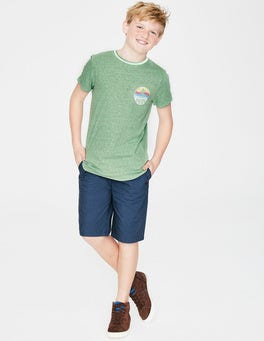 Soft Green Marl Surfer T-shirt