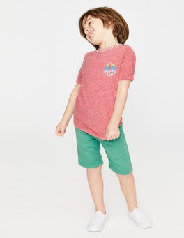 Soft Red Marl Surfer T-shirt