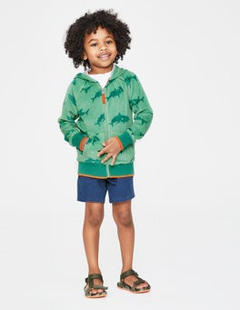 Patina Green Sharktastic Towelling Zip-up Hoodie