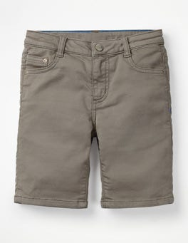 Grey Denim Denim Shorts
