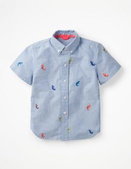 Multi Chameleon Embroidery Fun Short-sleeved Shirt