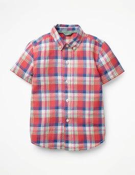 Salsa Red/Patina Green Check Fun Short-sleeved Shirt
