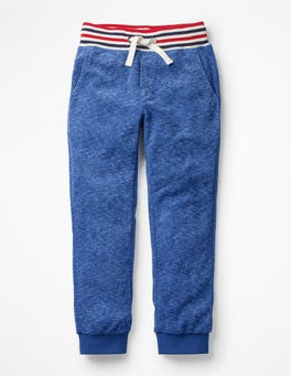 Duke Blue Marl Towelling Sweatpants