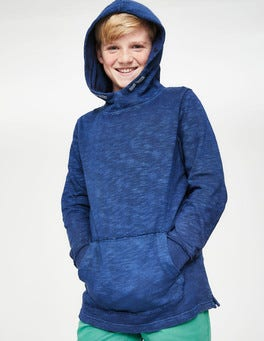 Starboard Blue Garment-dyed Slub Hoodie