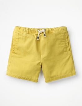 Celery Yellow Drawstring Shorts