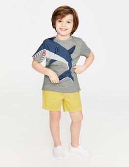 Grey Marl Shark Novelty T-shirt