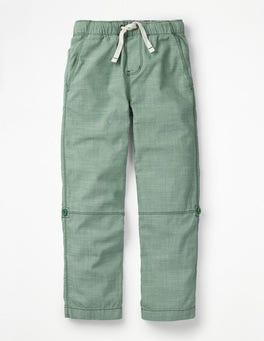 Rosemary Green Surf Roll-up Pants