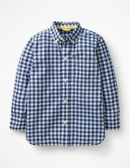 School Blue Gingham Smart Shirt