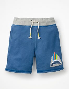 Elizabethan Blue Shark Animal Sweatshorts