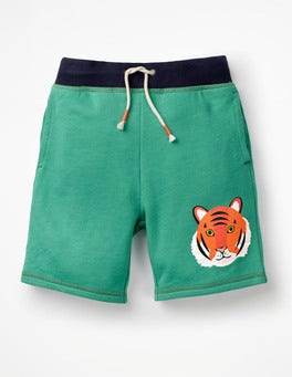 Jungle Green Tiger Animal Sweatshorts