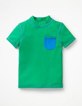 Astro Green Short-sleeved Rash Guard