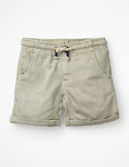 Canvas Roll-up Shorts