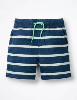Indigo/Ecru Jersey Shorts